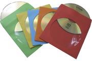 Fellowes CD/DVDpapieren hoesjes gekleurd