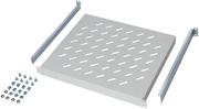 Vast legbord, 500 mm diep, grijs