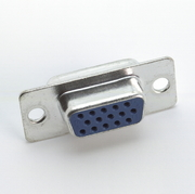 Sub-D Connector, Female, 15 Pin, HD