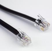 Modular Cable Flat RJ10,4P/4C, 1:1, 20m
