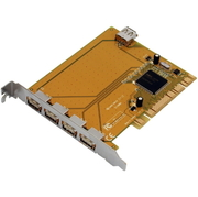I/O Card 4x USB 2.0 Ext. + 1x Int., PCI