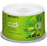 Sony CD-R80 48x, 100 Pc. Spindle Box