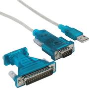 USB Adapter 1xUSB 2.0,1xSer.DB/9m,DB25/m