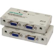 VGA+Audio Extender w/ 2x Splitter, 150m
