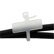 Cable Marker 100 pcs, Ecru, 25x8mm