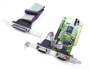 I/O Card 2× Serial/1× Parallel, PCI