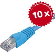 10x Patch Cable Cat5e SF/UTP RJ45 2m Blu