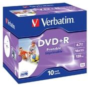 Verbatim DVD+R 4.7GB 16x Inkjet JC(10Pk)