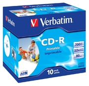 Verbatim CD-R 80/700 52x inkjet JC (10)