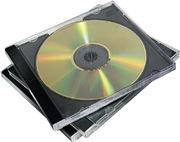 Fellowes CD Jewel Case, Black, 10-Pack