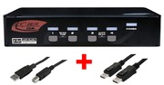 ARP KVM Switch 1:4 USB, DisplayPort