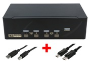 ARP KVM Switch 1:4 USB, Dual DisplayPort