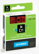 Dymo D1 Label Tape Red/Black 9mm