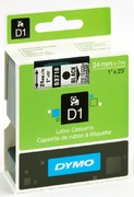 Dymo D1 Label Tape Transp./Black 24mm