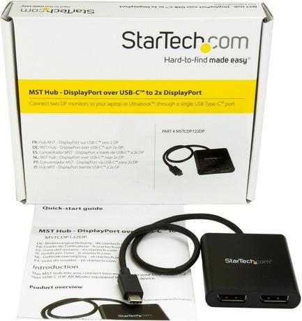 Adapter USB-C/m-2x DisplayPort/f
