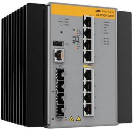 Allied Telesis AT-IE300-12GP PoE Switch