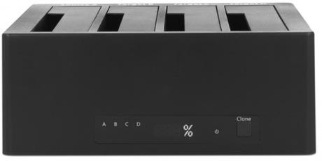 Delock 4 x HDD/SSD Docking/Clone Station